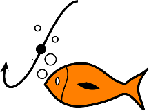 Fish near hook